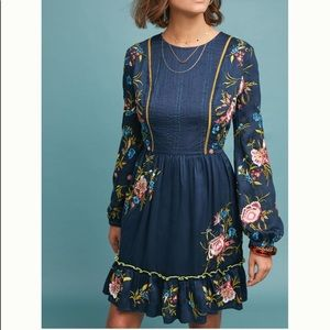 Anthropologie . Seen Worn Kept Embroidered Dress